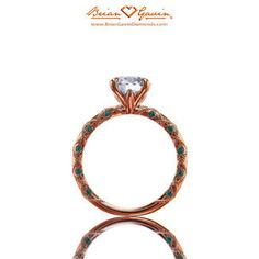 Lace with Green Tsavorite 18K Rose Gold