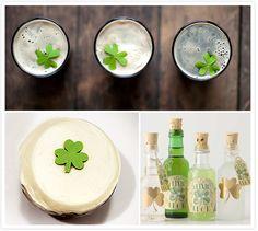 Lucky Guinness glasses / Sprinkles cupcake / DIY St. Patrick's day bottles