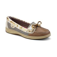 Discover the women's Angelfish Slip-On leather boat shoes from Sperry. Casual doesn't have to be ordinary with these boat shoes for women. Gold Glitter Shoes, Gold Shoes, Nautical Shoes, Sperry Top Sider Angelfish, Leopard Print Shoes, Sperry Boat Shoes, Leather Boat Shoes, Sperrys, Slip On