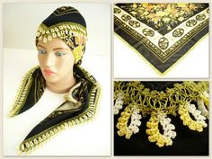 Turkish scarf with oya / floral printed by TurkishAccessories