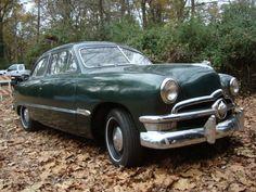 '50 Ford Tudor ... w/ flathead V8 and column-shift 3-speed.