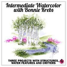 birch trees art impressions watercolor marker