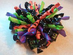 Halloween layered corker bow