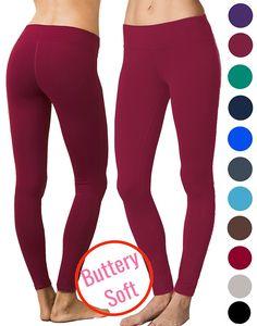Lush Moda Extra Soft Leggings - Variety of Colors - Yoga Waist - Burgundy at Amazon Women's Clothing store:  https://www.amazon.com/gp/product/B01N2AWQ9W/ref=as_li_qf_sp_asin_il_tl?ie=UTF8&tag=rockaclothsto_fitness-20&camp=1789&creative=9325&linkCode=as2&creativeASIN=B01N2AWQ9W&linkId=90dab0b8ace0e82a7f5a7df2b6eb8599