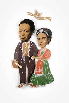 Frida Kahlo and Diego Rivera Articulated Art Paper by dubrovskaya