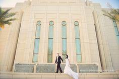 AZ wedding photographer | AZ temple wedding | Gilbert Temple | Bridals