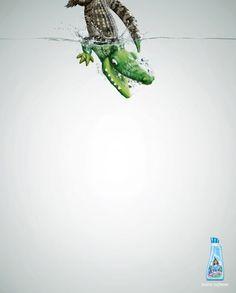 lenor lessive publicite crocodile