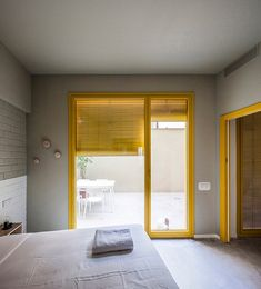 anna & eugeni bach build 'seven lives' residential building in barcelona Patio Interior, Interior Design, Terrace Building, Clad Home, Barcelona Apartment, Double Room, Baseboards, Brutalist, Residential Architecture
