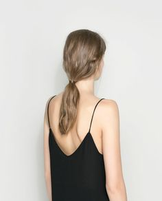 spaghetti straps and natural hair