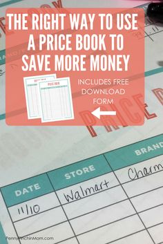 Price Book | Save Money on Groceries | How to Create a Budget | Printable