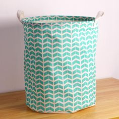 2016 Hot Sale Green Wave Fabric Laundry Basket With Two Handles ,Easy Folded And Cleaning From Lindalin89, $10.32 | Dhgate.Com