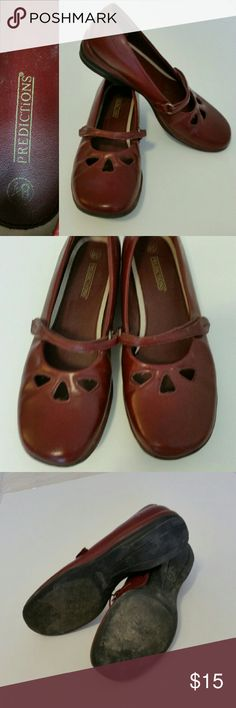 Adorable burgundy Mary Janes Get ready for compliments! This is such a sweet shoe that brings a girly aesthetic to complete many different outfits. Can be worn professionally or for fun. These shoes are in good condition with some wear on the soles but no defects. Shoes Flats & Loafers