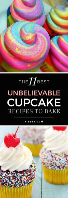 11 Best Cupcake Recipes The 11 best cupcake recipes! Please also visit for colorful, inspirational art and stories.The 11 best cupcake recipes! Please also visit for colorful, inspirational art and stories. Mini Desserts, Just Desserts, Delicious Desserts, Yummy Cupcakes, Cupcake Cookies, Cupcake Wars, Best Cupcakes, Thank You Cupcakes, Cupcake Frosting Recipes