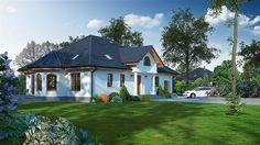 projekt Zarzecze z garażem KRP1235 Home Fashion, Program, Mansions, House Styles, Home Decor, Projects, Decoration Home, Manor Houses, Room Decor