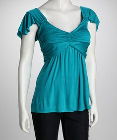 Take a look at this Haute Q Jade Ruched Top by Haute Q on #zulily today!