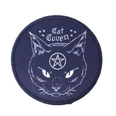 """Because it just makes sense to worship cats. Part of our Pins, Patches and Flair collection. Size: 3"""" diameter"""