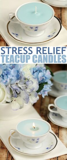 These stress relief teacup candles are made with a blend of essential oils meant to aid with stress relief. Not only are they great for bathtime, but they are a cute addition to any afternoon tea table.