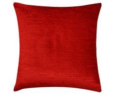 Capa de almofada carmim - 43x43cm | Westwing - Casa & Decoração