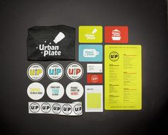 cute type paired with bright colors /// Urban Plate by Chris Yoon, via Behance
