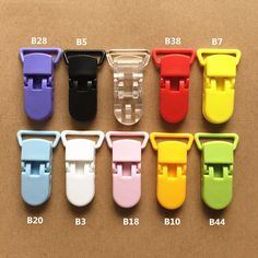 5pcs Mix Colors Plastic Pacifier Clips Holder Baby Dummy Clip Crocodile Mouth Design Infant Toddler Feeding Soother Clip