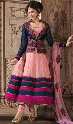 Love the anarkali with a koti (jacket) https://www.facebook.com/nikhaarfashions