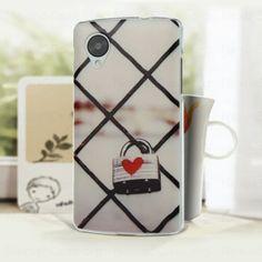 Cute PC Back Cover Case for Google Nexus 5 Heart Lock