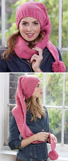 Free Knitting Pattern for Scarf Hat - Extra long stocking hat can be wrapped aro. - knitting hat , Free Knitting Pattern for Scarf Hat - Extra long stocking hat can be wrapped aro. Free Knitting Pattern for Scarf Hat - Extra long stocking hat can . Crochet Motifs, Knit Crochet, Crochet Hats, Chunky Knitting Patterns, Lace Knitting, Loom Patterns, Scarf Hat, Knitting For Beginners, Pulls