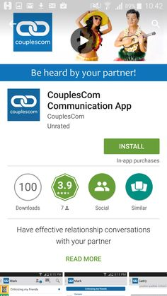 CouplesCom - A safe and effective place to have important conversations #apps #appsea #everywhereanywhere #ios #android #appstore #googleplay #notification #technology #smart #awesomeapp #socialapp #social #mobileapp
