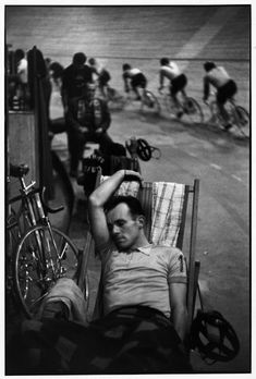 Henri Cartier-Bresson, Vélodrome D'Hiver, Paris, 1950's. The 6 day races.