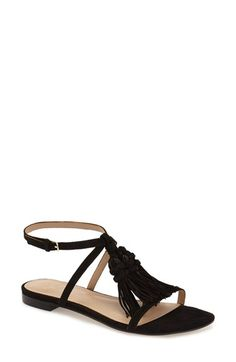 Marc Fisher LTD 'Crystal' Tassel Flat Sandal (Women)@tonjaamen