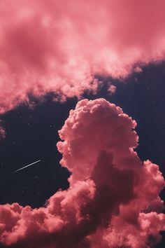 Pink Clouds Wallpaper, Night Sky Wallpaper, Iphone Background Wallpaper, Scenery Wallpaper, Aesthetic Pastel Wallpaper, Dark Wallpaper, Aesthetic Backgrounds, Galaxy Wallpaper, Aesthetic Wallpapers