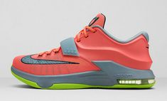 on sale 2c7c7 bc69d Nike KD 7 35K Degrees Bright Mango Space Blue Light Magnet Grey 653996 840  Popular Sneakers