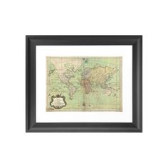 Give your rustic study, handsome home office, or cool, transitional living space a touch of worldliness with this charming print. A rendering of a retro world map circa 1778, this World Explorer Art Pr...  Find the World Explorer Art Print, as seen in the The Vintage Globetrotter Collection at http://dotandbo.com/collections/the-vintage-globetrotter?utm_source=pinterest&utm_medium=organic&db_sku=111600