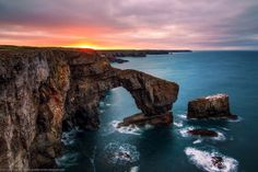 The Green Bridge of Wales, Castlemartin Range, Pembrokeshire, Wales