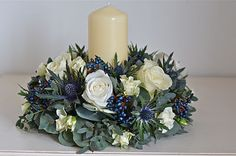 Incorporate flowers into the candles?