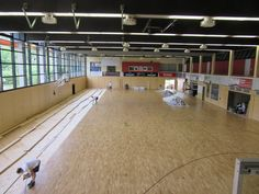 The new sports #flooring Dalla Riva Sportfloors installed in Germany is a Playwood S. 14 model