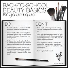 Back to School Beauty Basics by Younique  https://www.youniqueproducts.com/jackie0