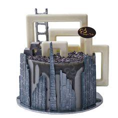 Under Construction Drip Cake