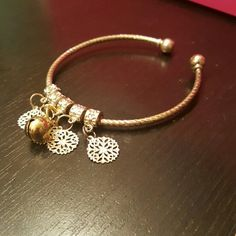Snowflake Jingle Bell Bangle Bracelet NWOT Very cute,  just in time for winter :) Jewelry Bracelets