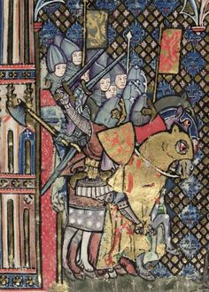 Bodley 264 Romance of Alexander Fol Jehan de Grise and his workshop Medieval Books, Medieval Manuscript, Illuminated Manuscript, Illuminated Letters, Medieval Helmets, Medieval Armor, Medieval Fantasy, Medieval Stained Glass, Medieval Paintings