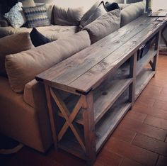 Insane Diy Sofa Table This Is An Ana White Design It Could Work Out Well If Was Modified As A Long Narrow Counter In The Bat