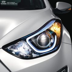 The new projector headlamps with LED Guide Light in The 2015 Elantra showcase the power of sophistication and elegance. #sophistication #Style 2015 #Elantrabit.ly/Hyundai_2015_Elantra_Testdrive
