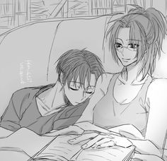 Aww!!!!!!! Levi is sleeping on her shoulder! So cute!!!