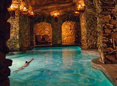 The Grove Park Inn, Asheville, North Carolina, United States, North America Cool Swimming Pools, Best Swimming, Hotel Swimming Pool, Hotel Pool, Pool Spa, Grove Park Inn Asheville, Asheville Spa, Jacuzzi, Underground Pool