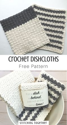 dish towels Add some country style to your kitchen with an easy country crochet dishcloth. You only need to know how to sc and ch to make this farmhouse dishcloth. Crochet Dish Towels, Dishcloth Crochet, Crochet Towel Tops, Crochet Kitchen Towels, Tunisian Crochet, Crochet Granny, Knitting Projects, Crochet Projects, Knitting Tutorials