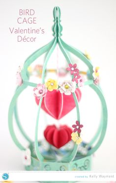 Bird Cage by Kelly Wayment for Silhouette - this is absolutely beautiful, what a talented lady!
