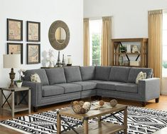 Best Farmhouse Living Room Furniture For Sale! Discover the best coffee tables, sofas, end tables, and more. Fabric Sectional, Corner Sectional, Living Room Sectional, Modern Sectional, Sectional Sofa, Sofas, Living Rooms, Farmhouse Living Room Furniture, Furniture Sets