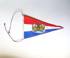 Vintage Netherland Flag Pennant Nederland Elf Provincien Dutch Flag Double Sided Silky Satin Colorful Jackpot Jen by JackpotJen on Etsy