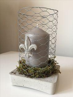 DIY Kerzenhalter Beton - Kaninchendraht zweckentfremdet