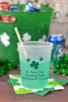 No need to tint the beer green with these fun, color changing St. Patrick's Day cups. Once these cups get cold they change from clear to green. Just add an iced cold beverage and watch the cups transform.  Great for serving iced drinks, cocktails, and light beer or pale ale. Add a fun twist to your St. Patty's day decorations and send guests home with a wonderful take-home souvenir idea. To order, visit http://www.tippytoad.com/color-changing-personalized-st-patricks-day-cups.asp
